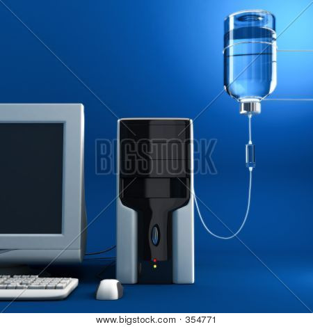 Computadora enferma