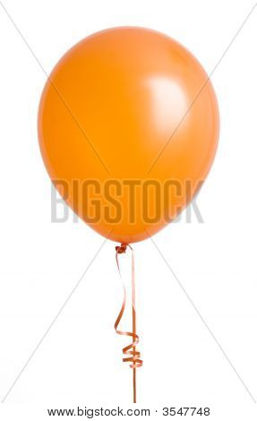 Orange Balloon On White