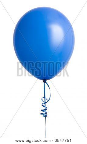 Blue Balloon On White