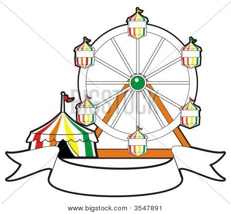 Tent Ferris Wheel And Banner