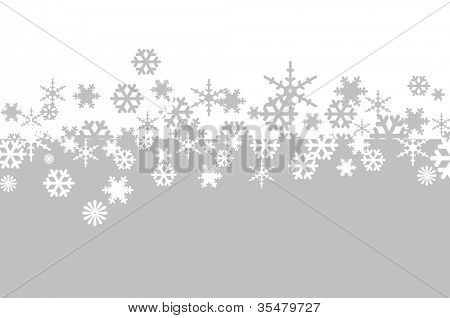 white and gray snowflakes drawn on a white and gray background