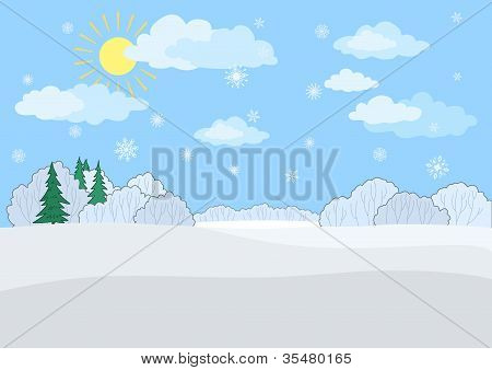 Landscape, winter day