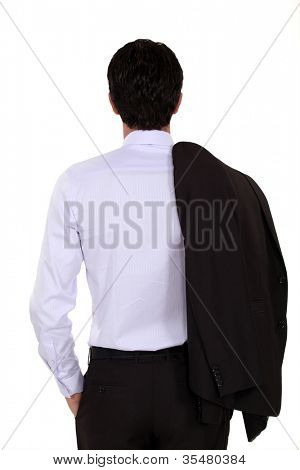 Elegant man from backwards