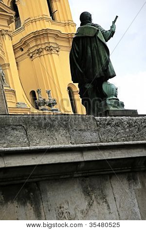 An image of the famous Feldherrnhalle in Munich Bavaria Germany
