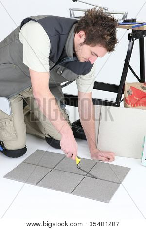 Tiler grouting