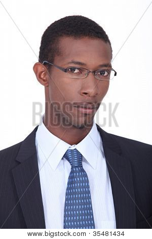 Young African American businessman