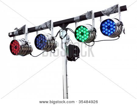 light show lamps on a white background