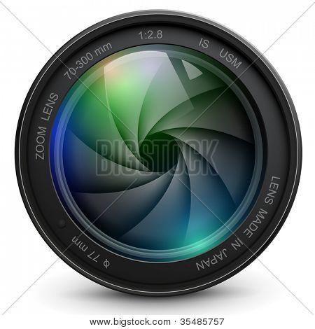 cámara de foto con el obturador.