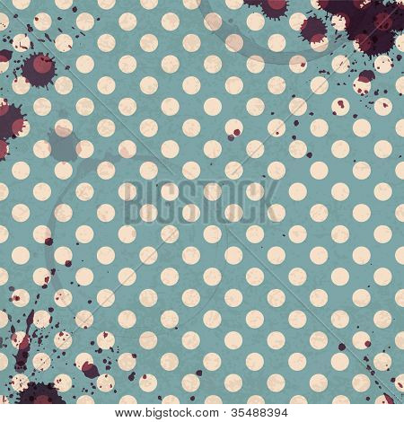 Wine rings on vintage tableclotch. Abstract restaurant background. Raster version
