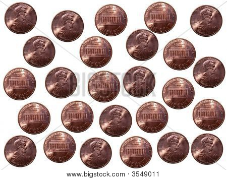 Abstract Pennies Background