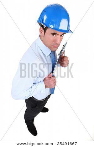 real estate businessman preparing his vengeance