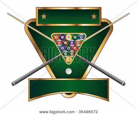 Pool o billar emblema diseño