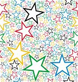 Multicolored Stars Seamless Pattern