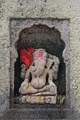 pic of shankar  - Elephant Headed Indian Lord Ganesha at Shri Koteshwar Temple Situated between Village Limb and Gove in Middle of River Krishna Satara Maharashtra India - JPG