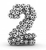 Постер, плакат: Номер 2 от футбольные мячи футбольные