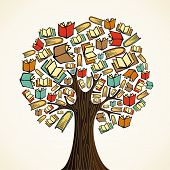 pic of grammar  - Global education concept tree made books - JPG