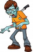 image of scabs  - Stabbed cartoon zombie - JPG