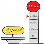 image of priceless  - An image of am appraisal meter drawing - JPG