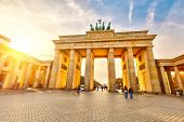 pic of gate  - Brandenburg gate at sunset - JPG