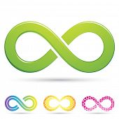 foto of mobius  - Vector illustration of sleek style Infinity Symbols - JPG