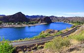 Scenic landscape of lake Havasu in Arizona
