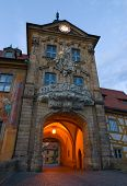 pic of regnitz  - The City Hall in Bamberg - JPG