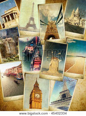 antecedentes de viajes Vintage