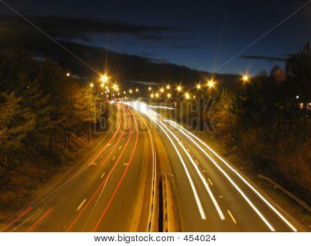 Light Smears On Road
