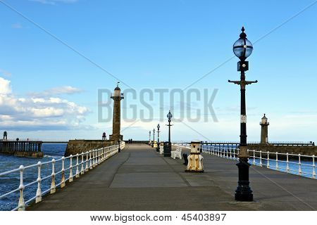 Old pier at Whitby.