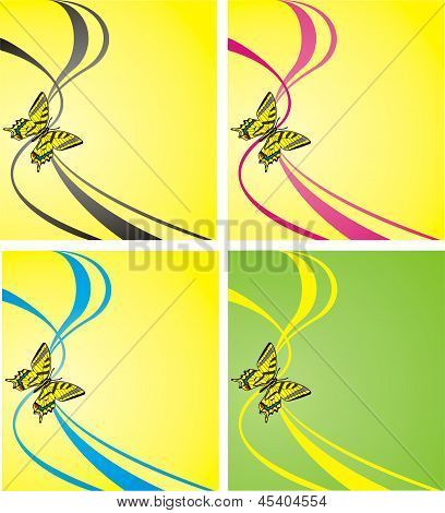 Vector illustration. Bright butterfly