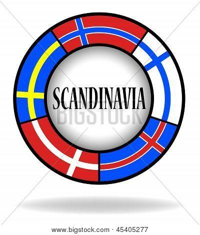 Scandinavian flags in a circle