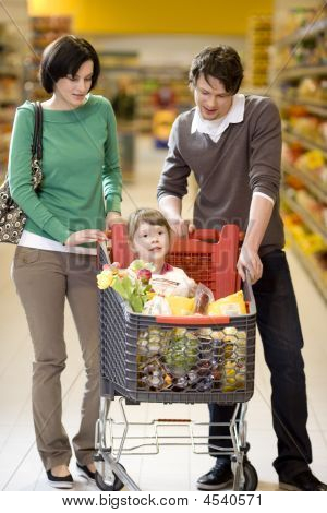 Young Family Shopping