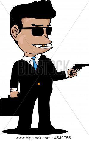 Mafia With Gun.eps