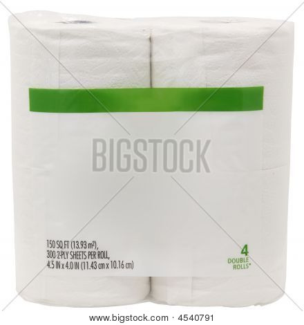 Package Of Toilet Paper With Blank Label