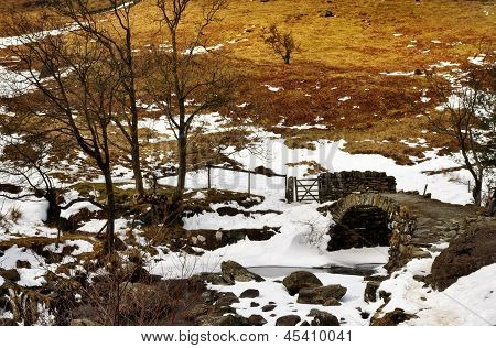 View of High Sweden Packhorse Bridge