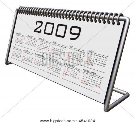 Alluminium And Chrome Desktop Calendar 2009