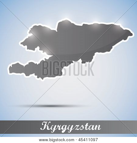 shiny icon in form of Kyrgyzstan