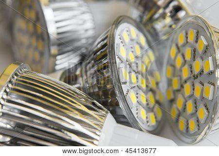 Led Bulbs Gu10 With 3-chip Smd