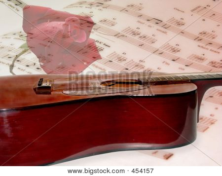 Acoustical Guitar On Music With Rose