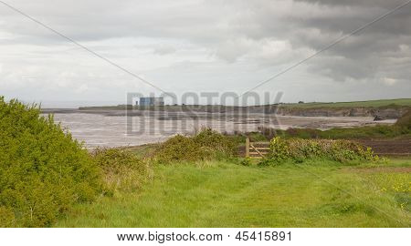Coast near Hinkley Point nuclear power station