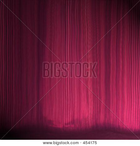 Theater Vorhang Textur mit subtiler Footlight Effekt