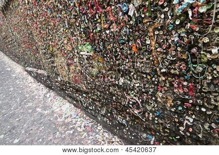 Post Alley Chewing Gum Wall Seattle Washington Usa