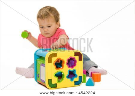 Lovely Baby With Colorful Activity Cube