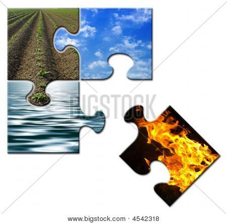 Four Elements Puzzle Fire Apart