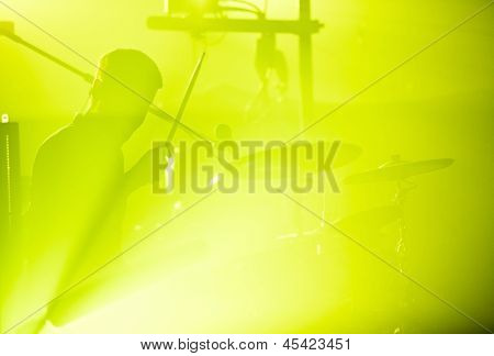 Drumer In Silhouette