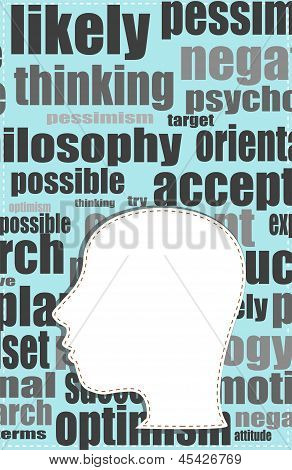Word Cloud Business Concept Outside Head Shape