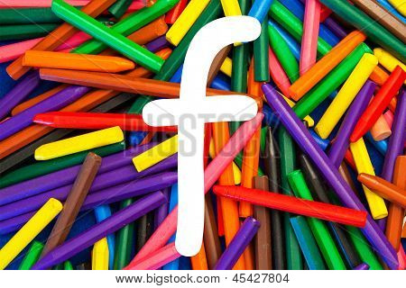 Letter F - Alphabet - Lower Case - Education / Schools / Teaching.