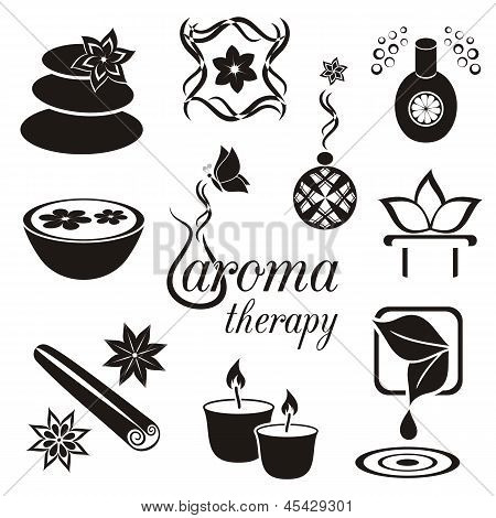 Aromatherapie-Icons