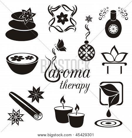 Aromatherapie pictogrammen