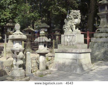 die Terrytory von Shinto-Tempel.